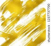 artistic brush smears. golden... | Shutterstock . vector #1237737700