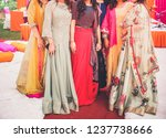 indian bride and bridesmaid... | Shutterstock . vector #1237738666