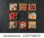 set of eight different... | Shutterstock . vector #1237746073