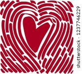 hand drawing heart in the form... | Shutterstock .eps vector #1237746229