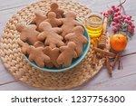 bowl full of homemade... | Shutterstock . vector #1237756300