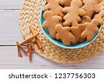 bowl full of homemade... | Shutterstock . vector #1237756303