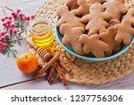 bowl full of homemade... | Shutterstock . vector #1237756306