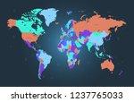 color world map vector | Shutterstock .eps vector #1237765033