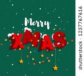 "the inscription ""merry xmas"" in ... | Shutterstock .eps vector #1237767616"