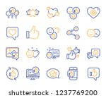 social media line icons. set  ... | Shutterstock .eps vector #1237769200