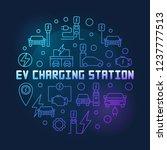 ev charging station round... | Shutterstock .eps vector #1237777513