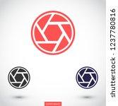 diaphragm vector icon 10 eps | Shutterstock .eps vector #1237780816