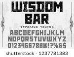 font script typeface vector... | Shutterstock .eps vector #1237781383