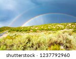 beautiful rainbows in monsoon... | Shutterstock . vector #1237792960