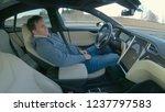 tesla autonomous car  march...   Shutterstock . vector #1237797583