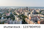 city aerial view. modern middle ... | Shutterstock . vector #1237804933