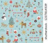 christmas background  seamless... | Shutterstock .eps vector #1237814539