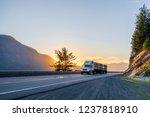 big rig american white long...   Shutterstock . vector #1237818910