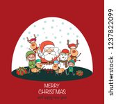 merry christmas  happy... | Shutterstock .eps vector #1237822099