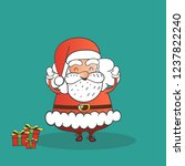 santa claus with gifts  merry... | Shutterstock .eps vector #1237822240