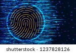 fingerprint scanning... | Shutterstock .eps vector #1237828126