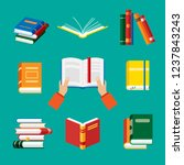 set of book icons in flat style ... | Shutterstock .eps vector #1237843243