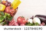 frame made of vegetables on...   Shutterstock . vector #1237848190