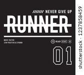athletic run typography  tee... | Shutterstock .eps vector #1237858459