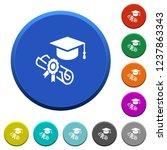 graduation ceremony round color ... | Shutterstock .eps vector #1237863343