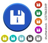 file info round color beveled... | Shutterstock .eps vector #1237863349