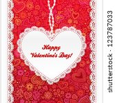 Vector Valentine's Day Lacy...