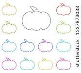pumpkin icon in multi color....