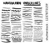 handmade collection set of... | Shutterstock .eps vector #1237873159