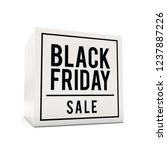 black friday sale text on cube... | Shutterstock . vector #1237887226