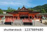 Stock photo itsukushima shrine shinto shrine on the island of itsukushima known as miyajima 1237889680