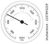 circular analog barometer... | Shutterstock .eps vector #1237893229
