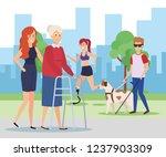 disabled people design   Shutterstock .eps vector #1237903309