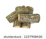 oak log isolated on a white.... | Shutterstock . vector #1237908430