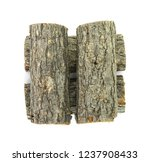 oak log isolated on a white.... | Shutterstock . vector #1237908433