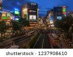 shibuya crossing in tokyo japan ...   Shutterstock . vector #1237908610