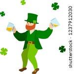 vector image of drunk... | Shutterstock .eps vector #1237912030