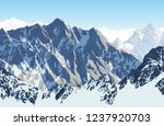 vector himalayan mountain... | Shutterstock .eps vector #1237920703