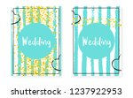 bridal shower card with dots... | Shutterstock .eps vector #1237922953