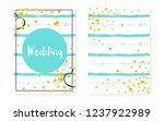 bridal shower card with dots... | Shutterstock .eps vector #1237922989