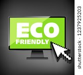 eco friendly word on high... | Shutterstock . vector #1237925203