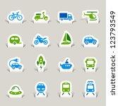 Paper Cut   Transportation Icons