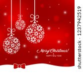 greeting card with christmas... | Shutterstock .eps vector #1237942519