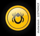 ticks warning mite bug sign.... | Shutterstock .eps vector #1237949419