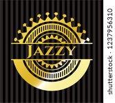 jazzy gold emblem | Shutterstock .eps vector #1237956310