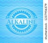 alkaline sky blue water badge.   Shutterstock .eps vector #1237956379