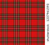 christmas and new year tartan... | Shutterstock .eps vector #1237961593