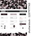 light gray vector design ui kit ...