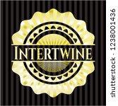 intertwine golden badge | Shutterstock .eps vector #1238001436