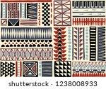 tribal vector ornament.... | Shutterstock .eps vector #1238008933
